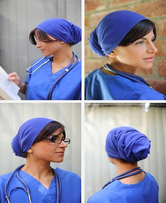 Nurses Purple Ocean Head Wrap I Bandana