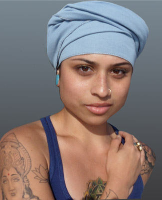 Baby Blue Head Wrap on 4 Bl