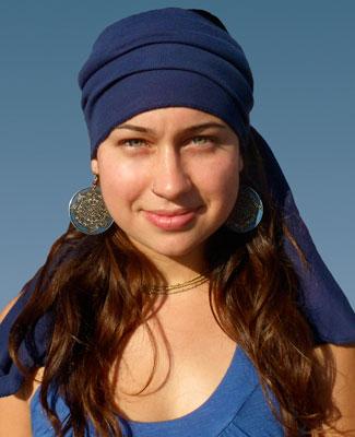 Blue Head Wrap on 1TL