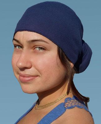 Blue Head Wrap on 2TR