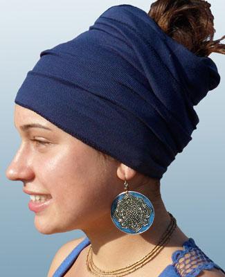 Blue Head Wrap on 4BR