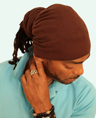 Brown Head Wrap on 2 Tr