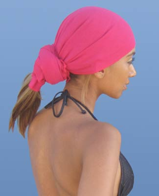 Hot Pink Head Wrap on 4BR