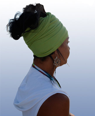 Mint Green Head Wrap on 3BL