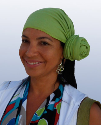 Mint Green Head Wrap on 4BR