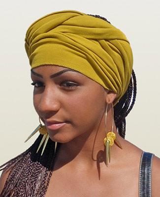 Mustard Head Wrap on 4BR