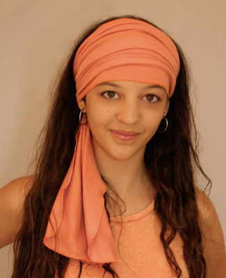 Peach Head Wrap on 1 Tl