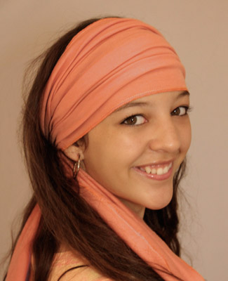 Peach Head Wrap on 4 Br