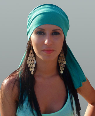 Peppermint Head Wrap on 2TL