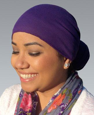 Purple Head Wrap on 2TR