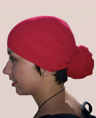 Red Head Wrap on 2 Tr