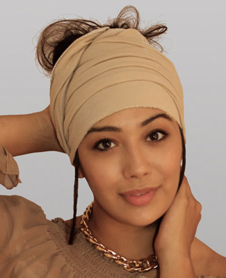 Tan Head Wrap on 1 Tl