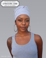 light grey head wrap