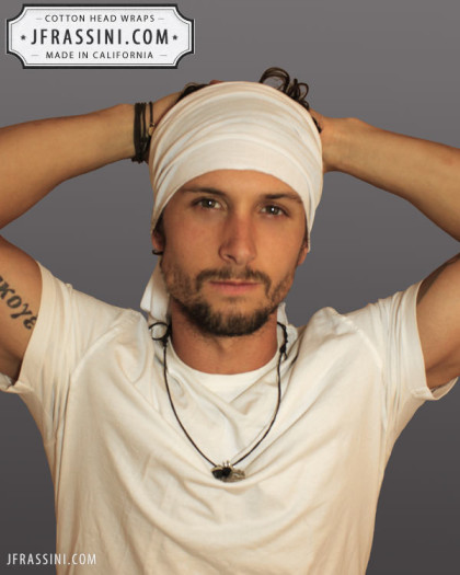 Cotton White Head Wrap   Bandanas   Bandanas   Do-Rags for men and ... f02ddb807a2