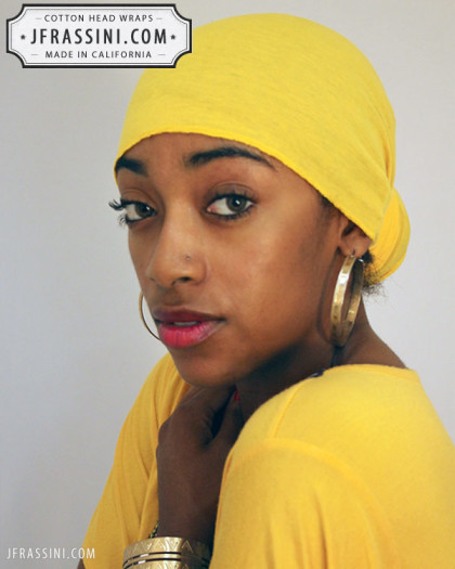 yellow head wrap