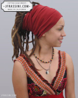 wine red head wrap