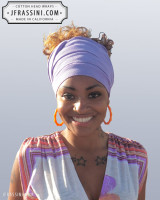 light purple head wrap