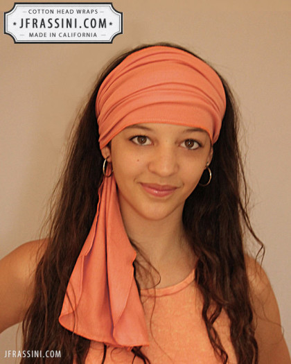 peach head wrap