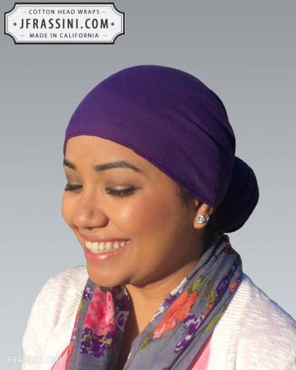 purple head wrap