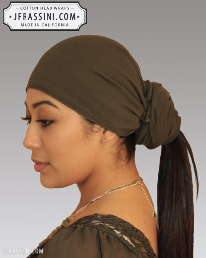 army green head wrap