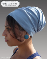baby blue head wrap