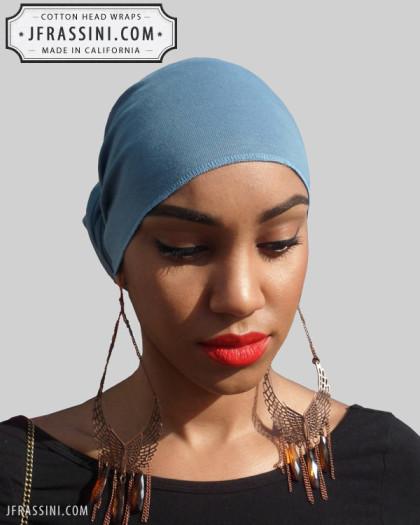 blue jean blue head wrap