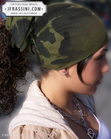camouflage head wrap