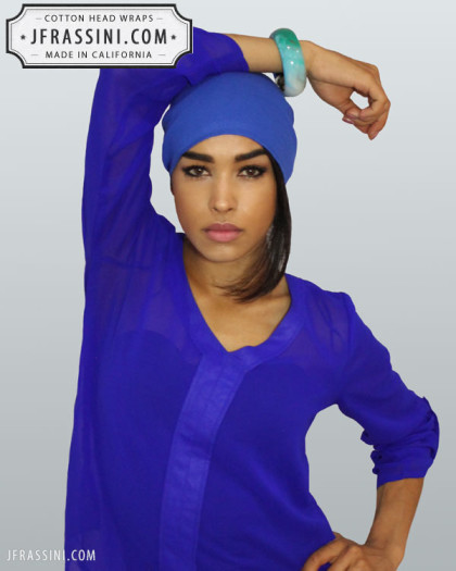 egyptian blue head wrap