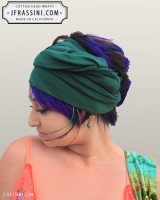 forest green head wrap