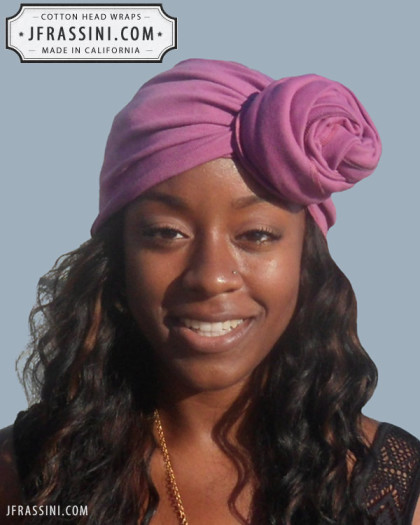 mauve head wrap